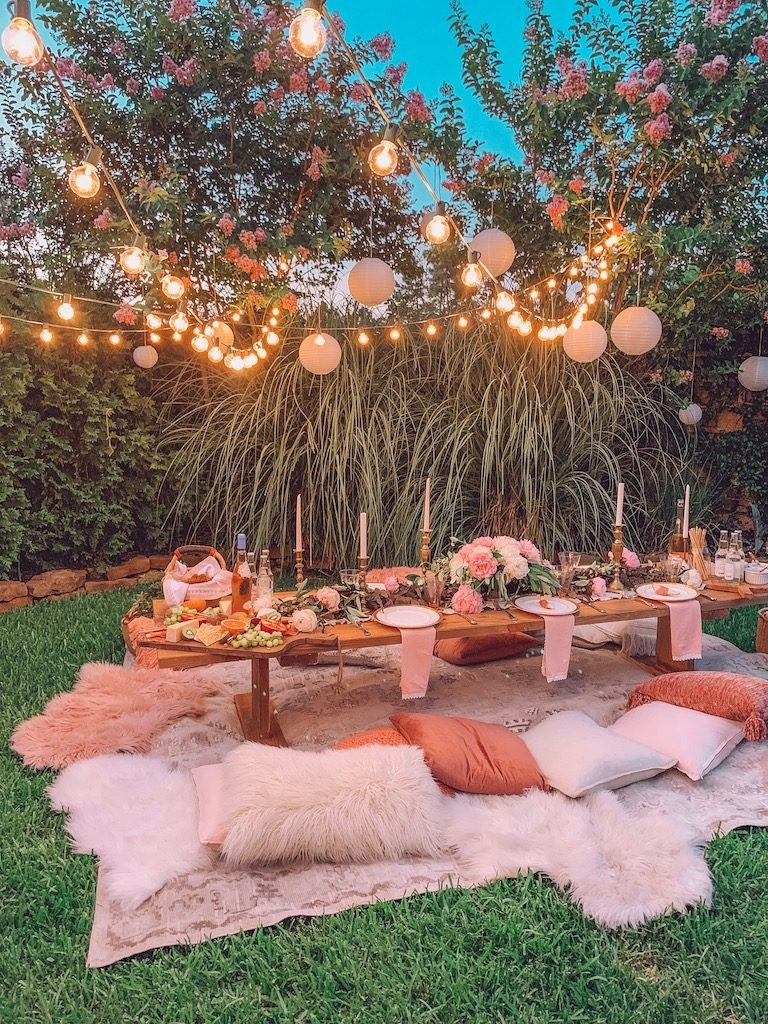 romantic outdoor summer party