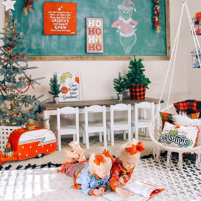 kids playroom modern farmhouse christmas decor