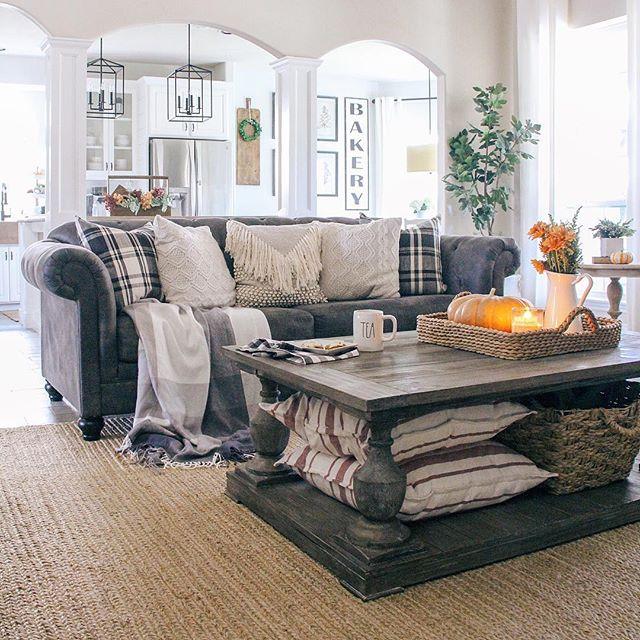 fall home decor living room