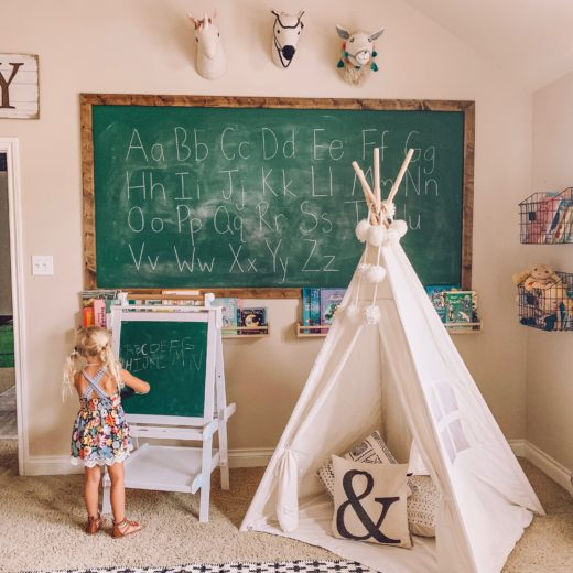 kids playroom homeschool idea