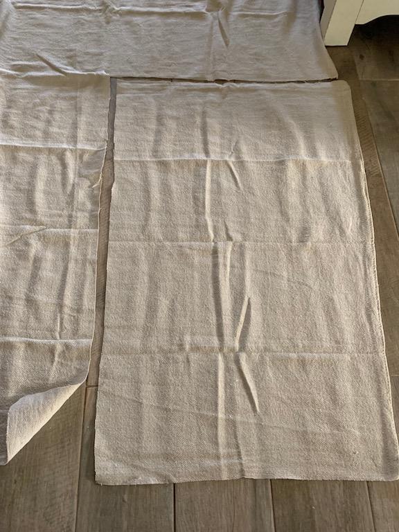 how to cut diy drop-cloth curtains