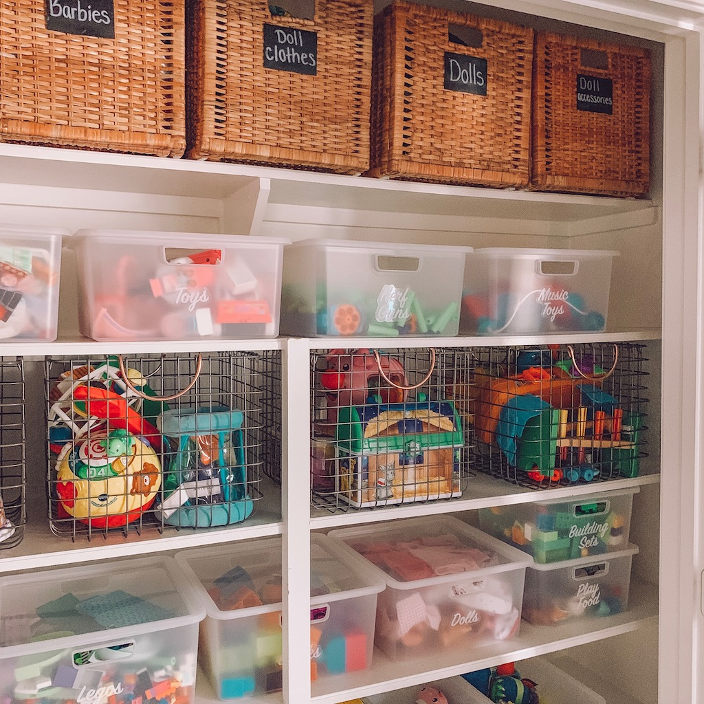 how to organize your kid's toys