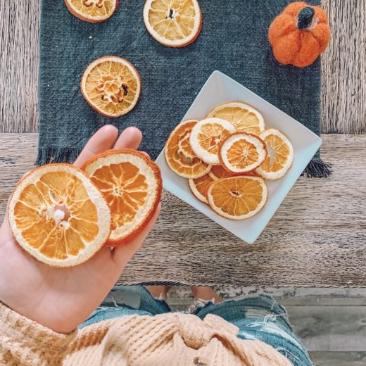 homemade dried citrus orange wheels