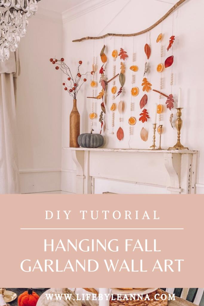 diy tutorial hanging fall garland wall art