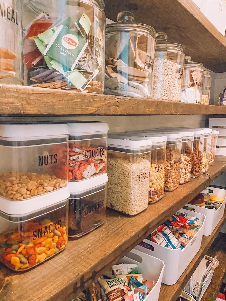 pantry clear storage bins