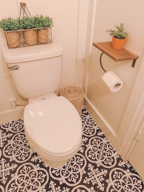 how to refresh your small bathroom