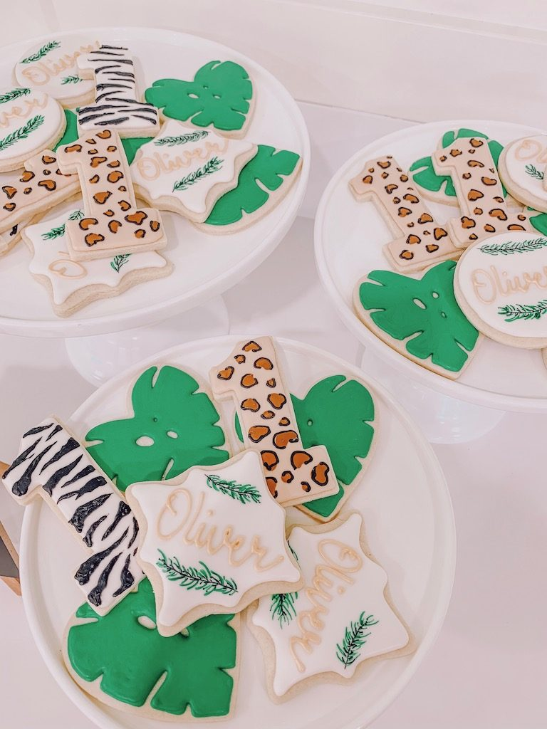wild one birthday sugar cookies