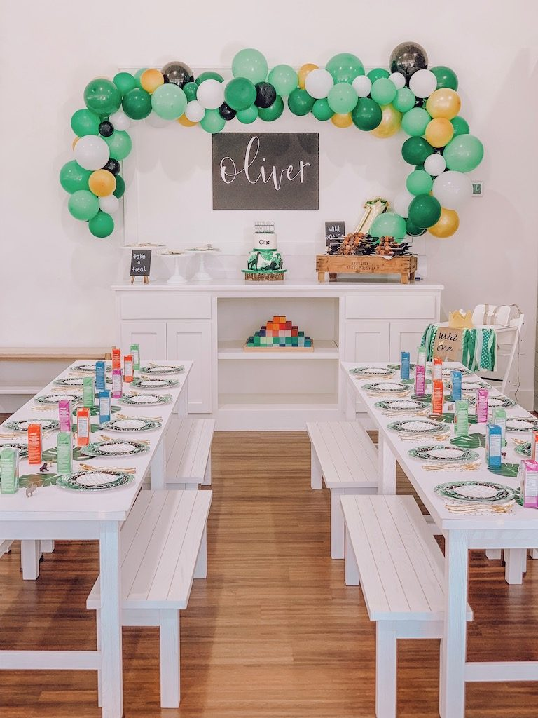wild one birthday party table decor