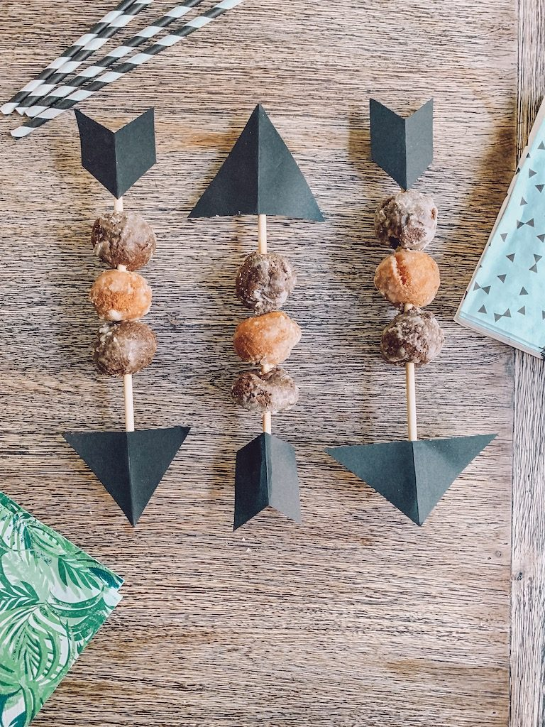 diy donut hole arrows