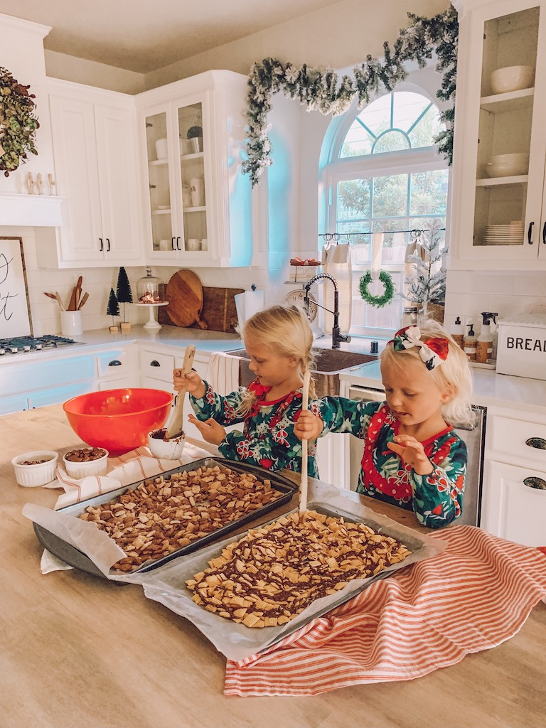kids cooking in the kitchen for the holidays