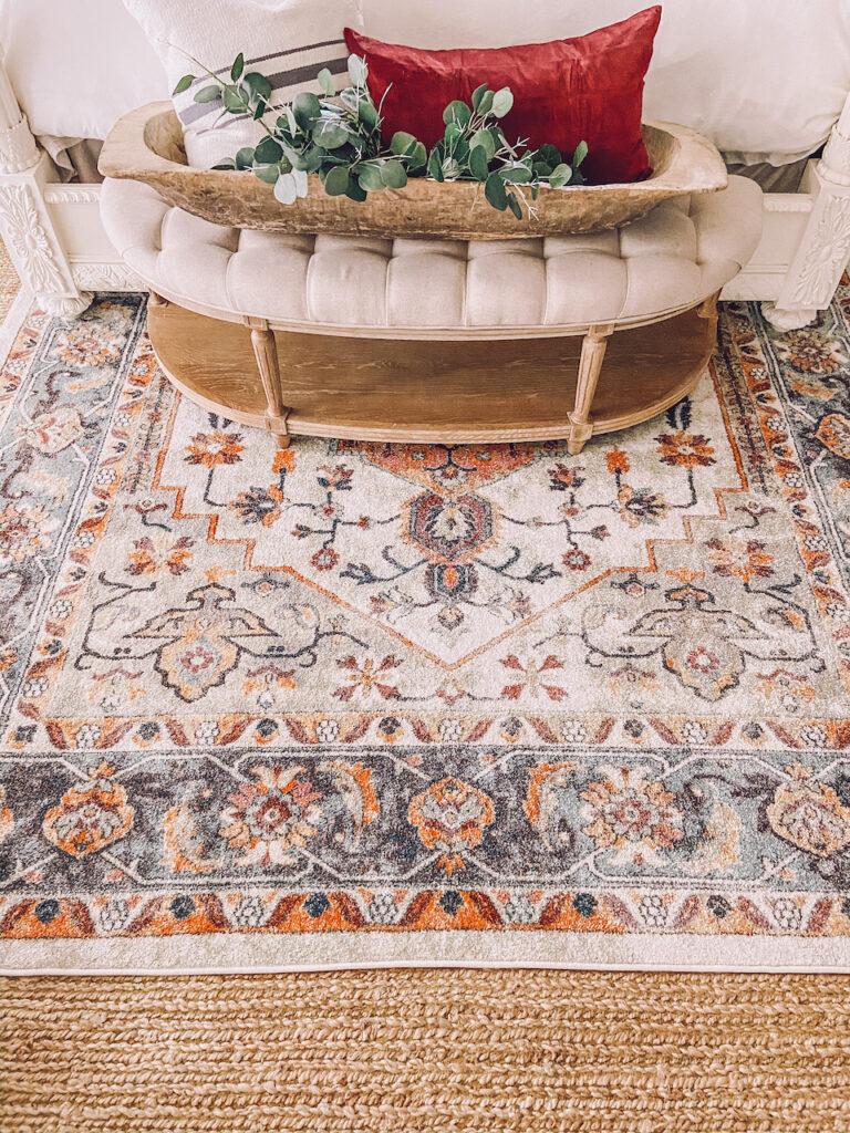 colorful modern vintage rug
