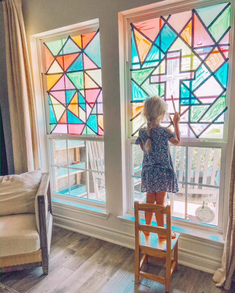 DIY Faux Stained Window