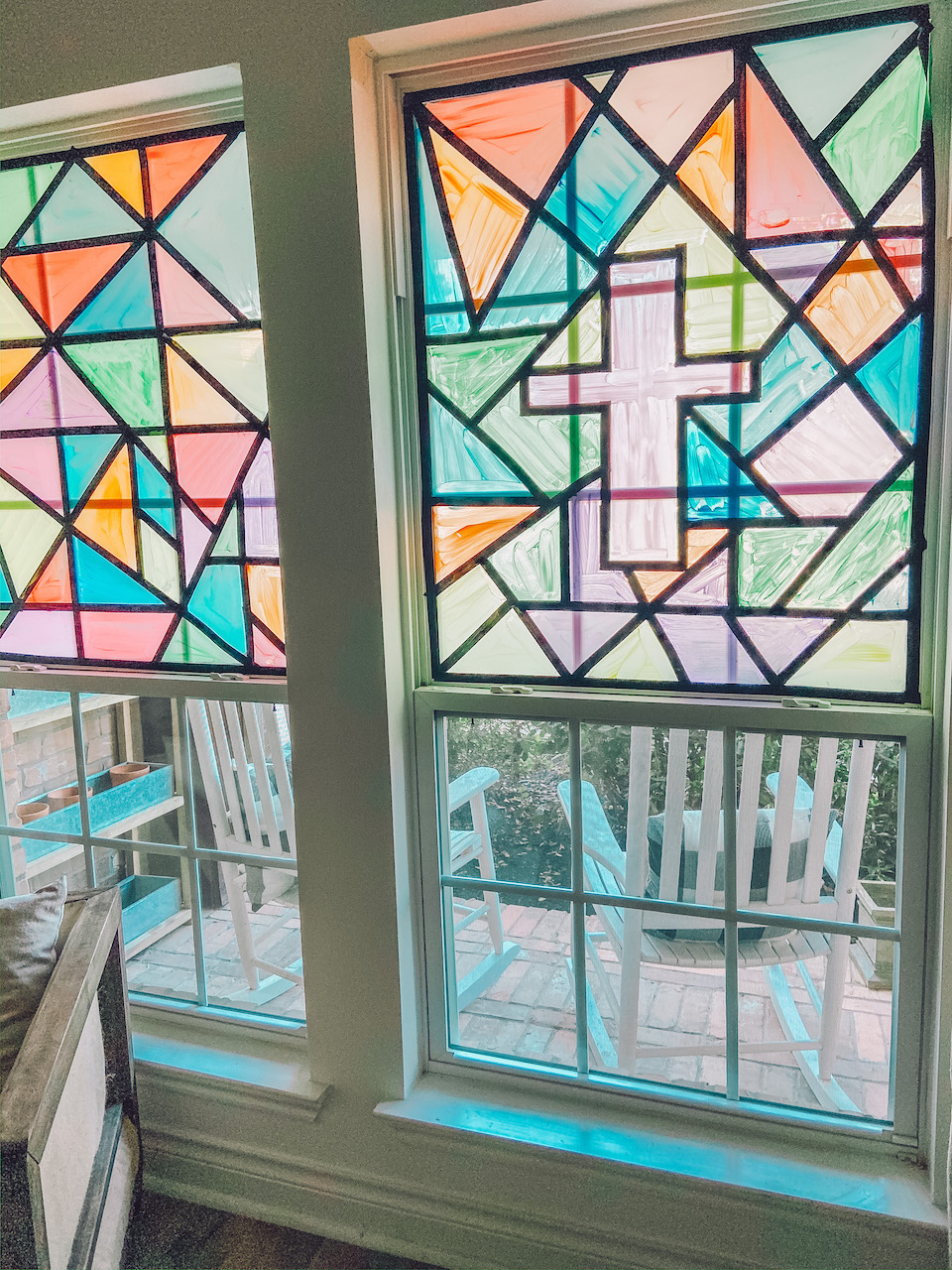 DIY Faux Stained Glass Window Tutorial - Life By Leanna