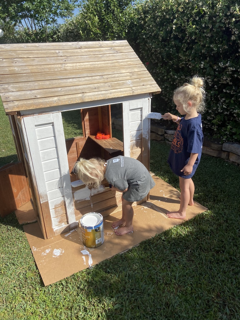 painted kids playhouse