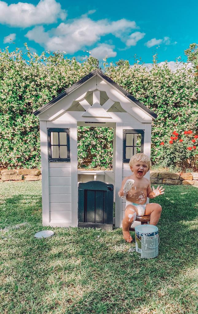 diy wood playhouse