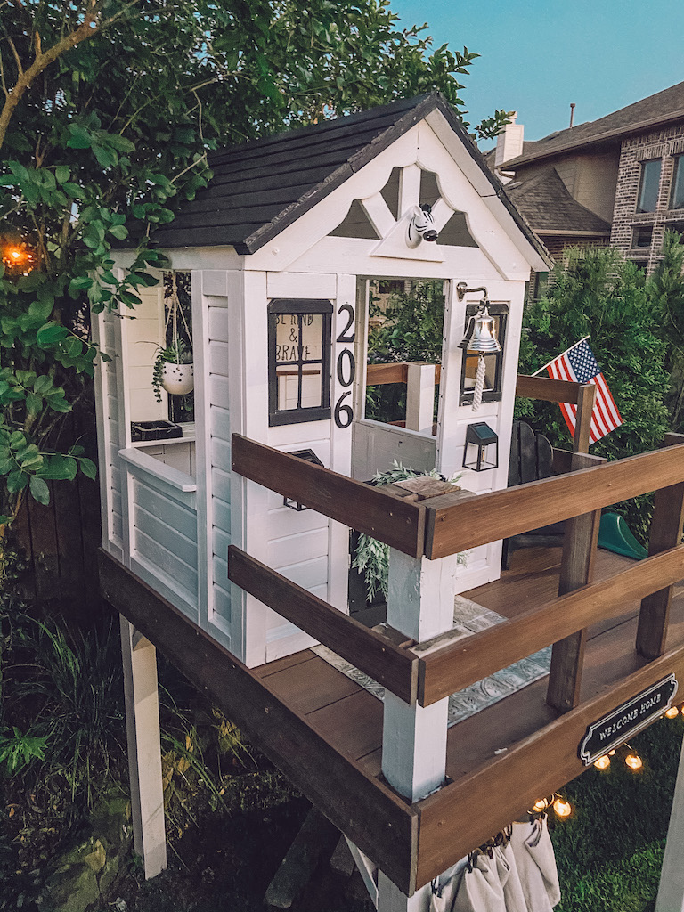 diy painted playhouse