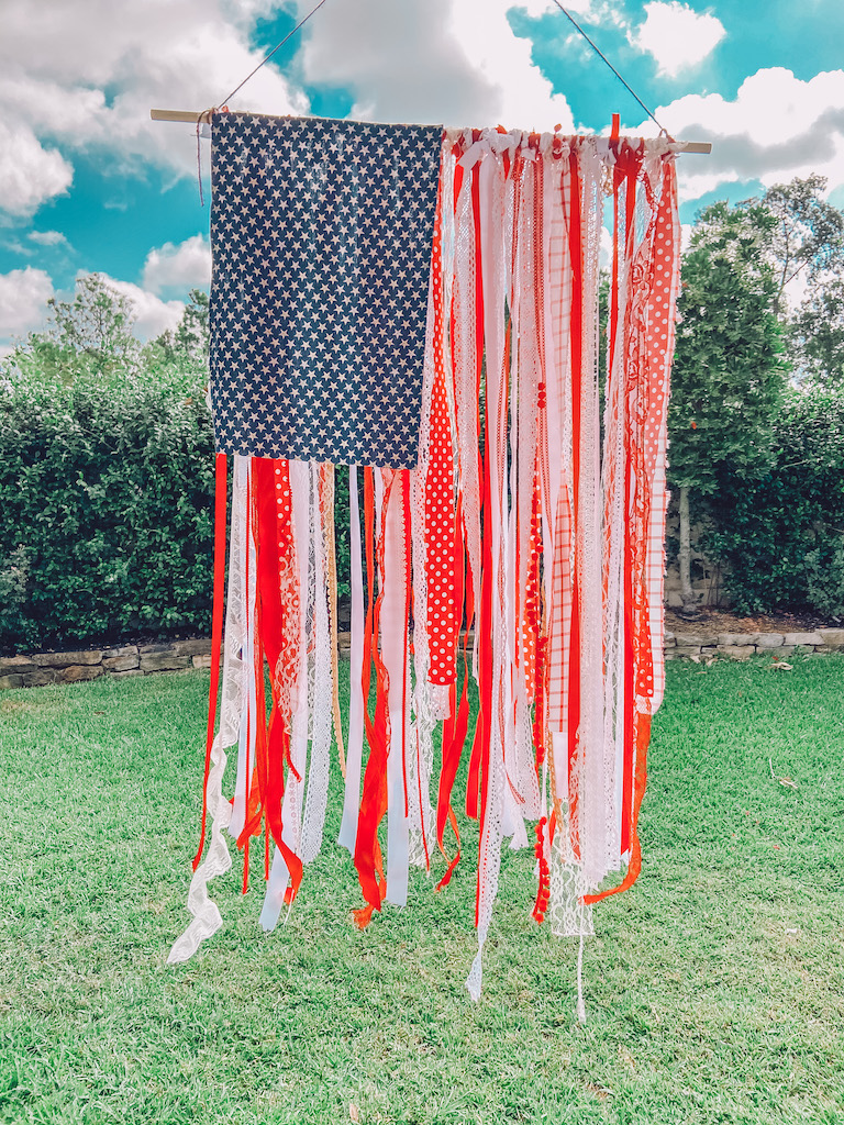 diy american ribbon flag