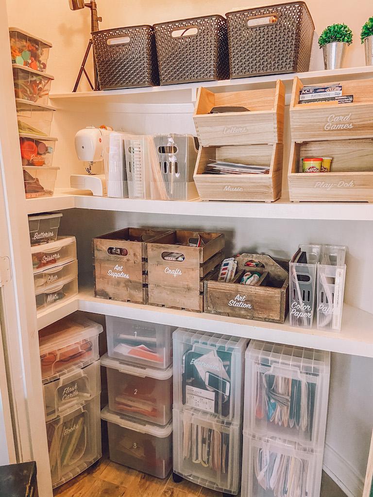 office closet organiazation