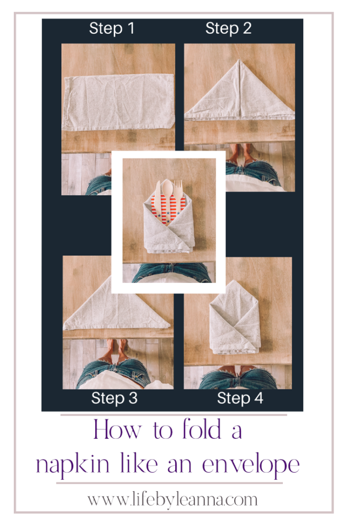 how to fold a napkin like an envelop