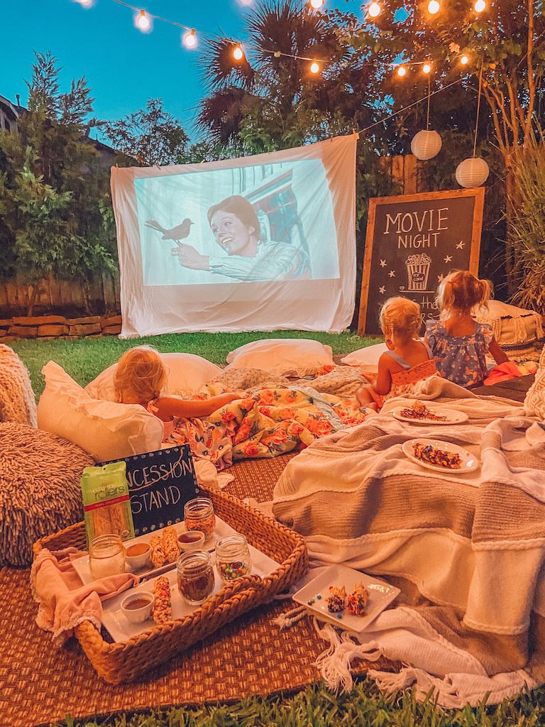 summer backyard movie night