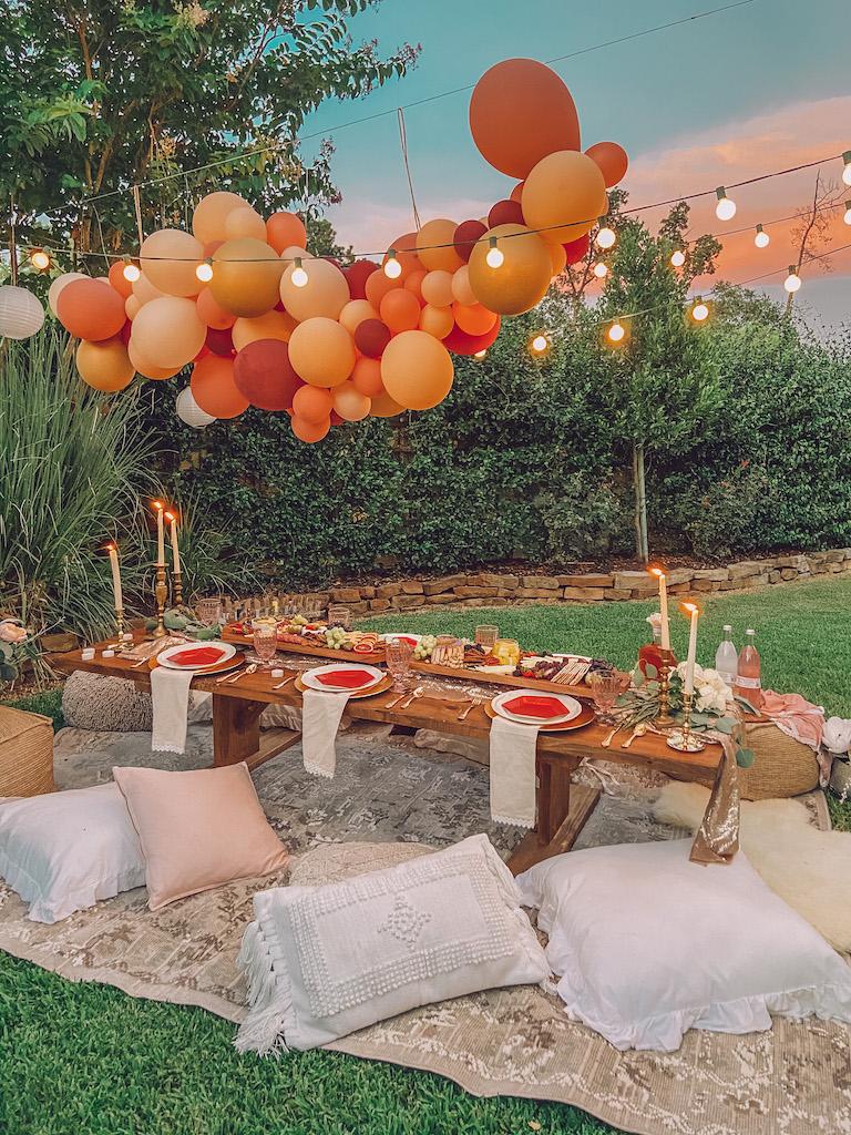 backyard bohemian dinner party