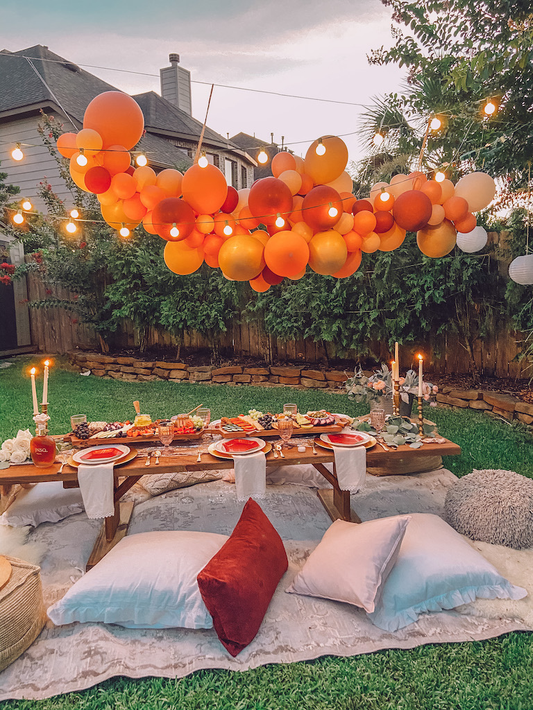 host an outdoor bohemian party for your friends