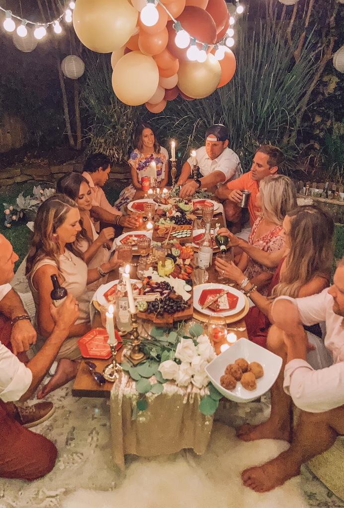 A Backyard Bohemian Dinner Party Life By Leanna