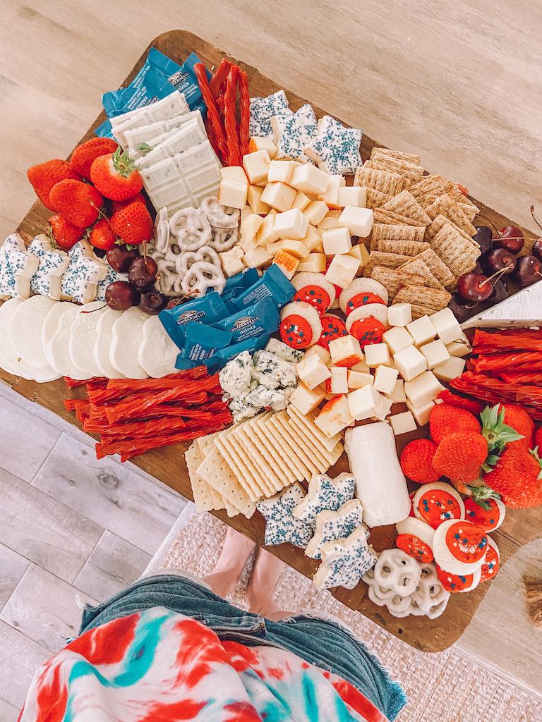patriotic cheese board