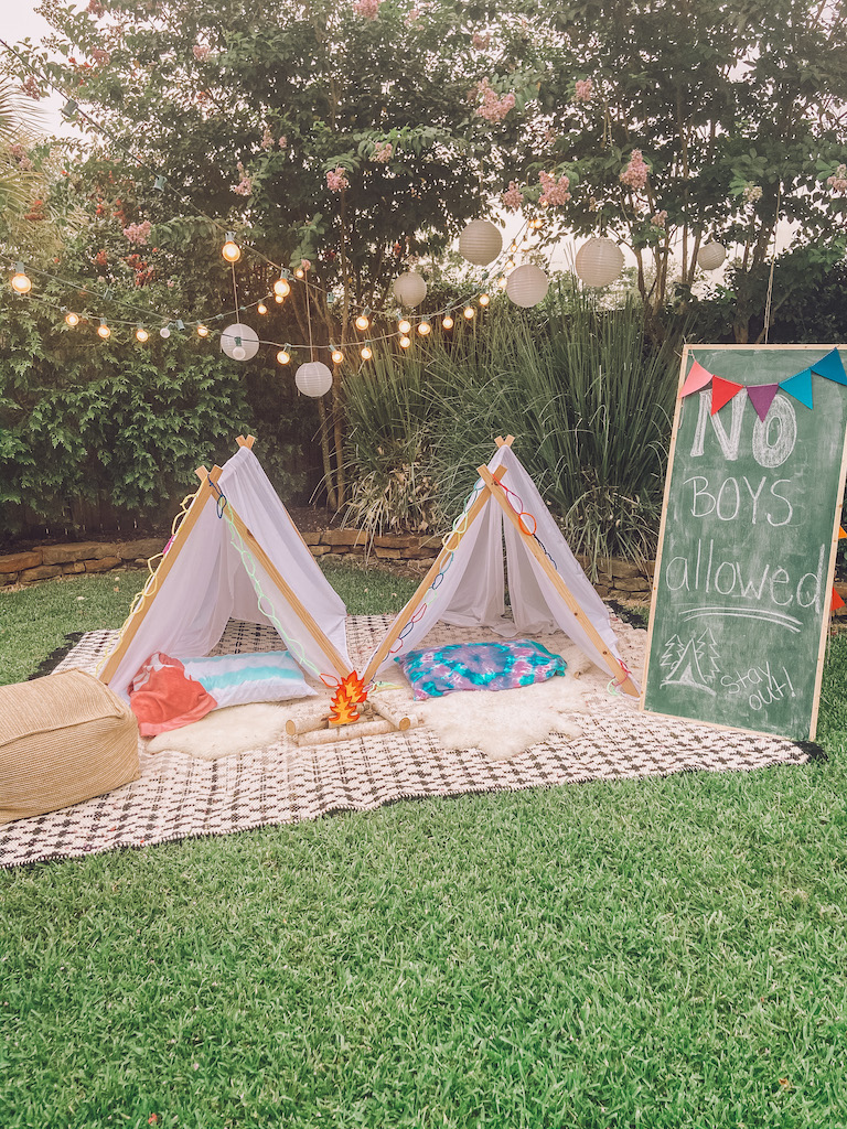 outdoor campout for kids