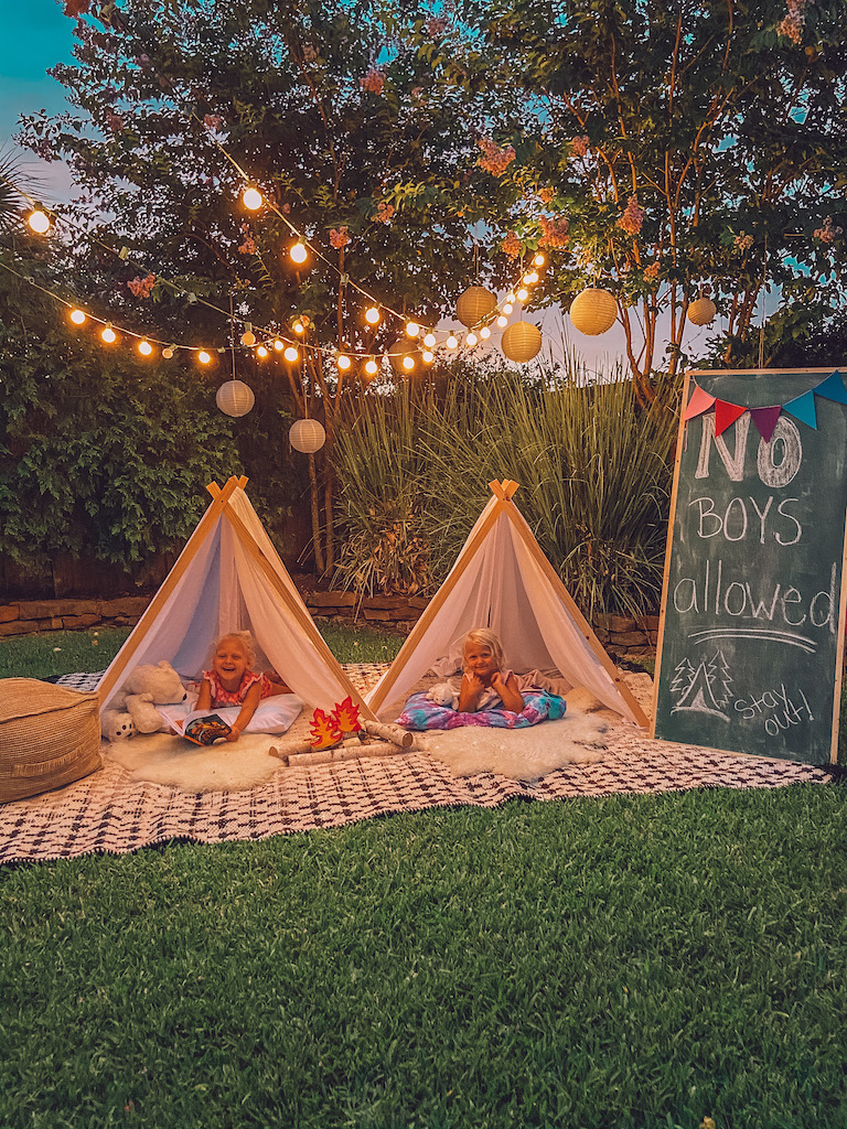 backyard campout for kids