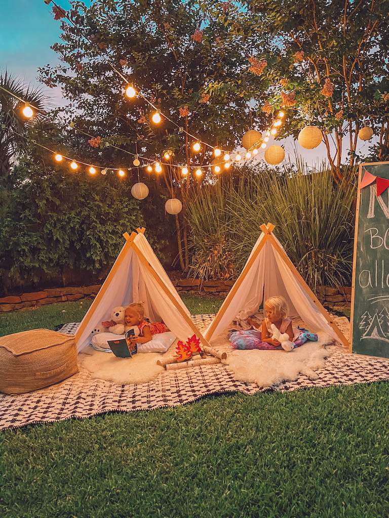 backyard summer campout at home