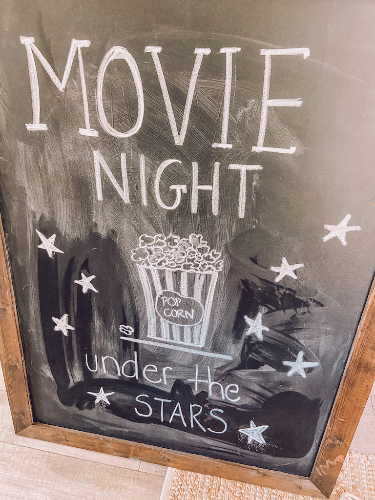 movie night sign