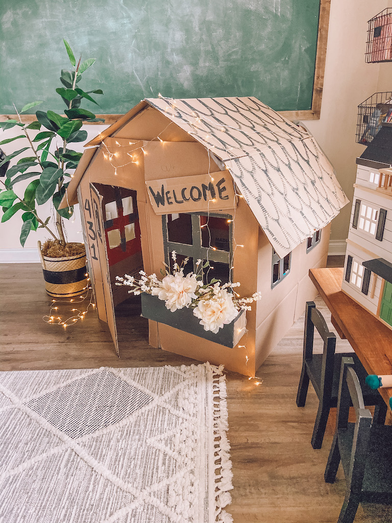cardboard playhouse for kids
