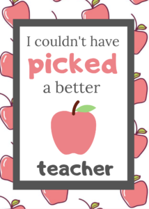 first day of school teacher gift