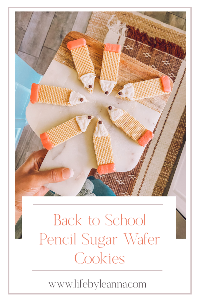 back to school pencil sugar wafer cookie