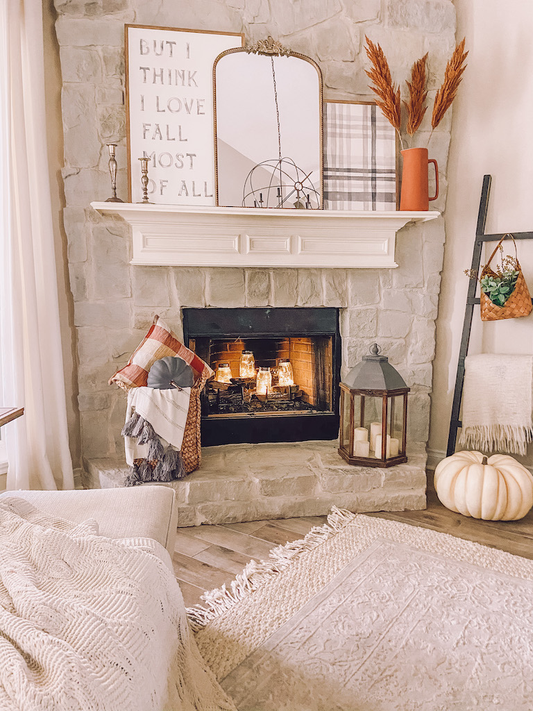 twinkle lights fall decor