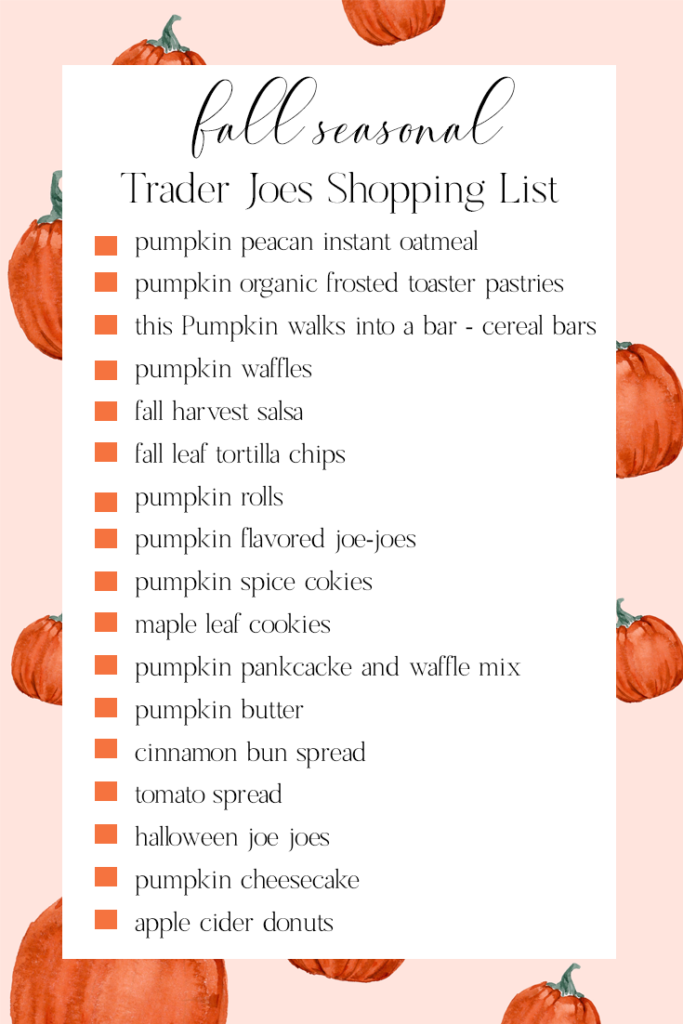 fall trader joe's must have items