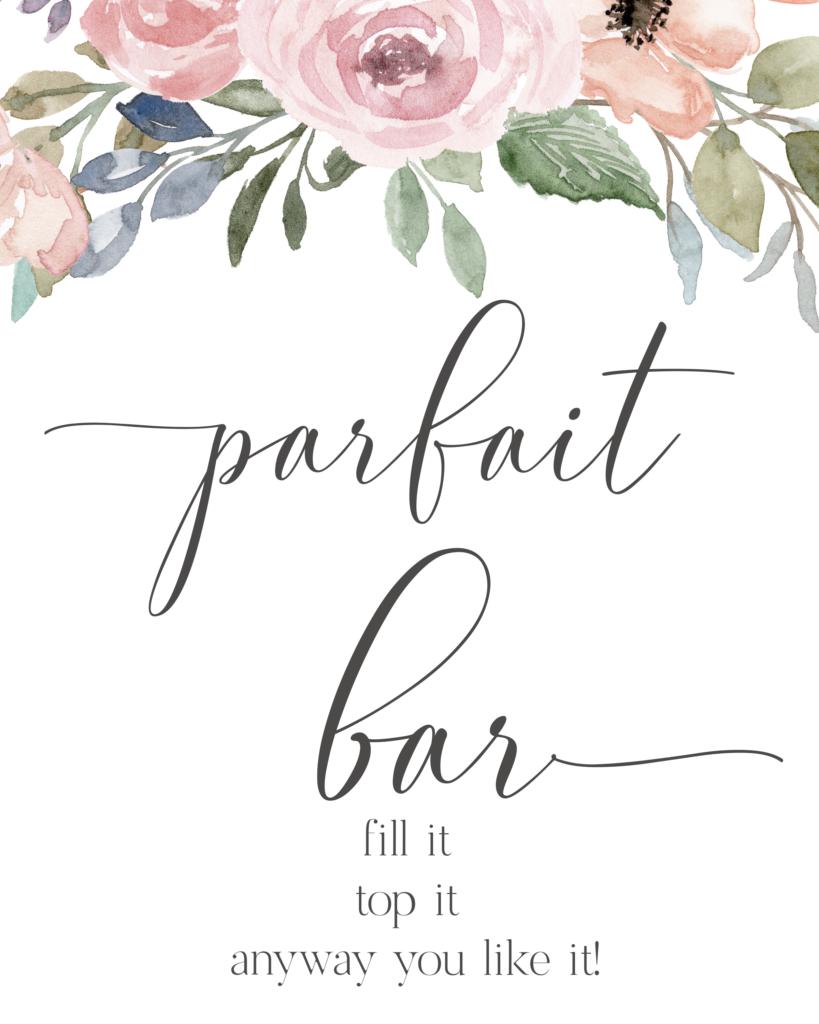 parfait bar
