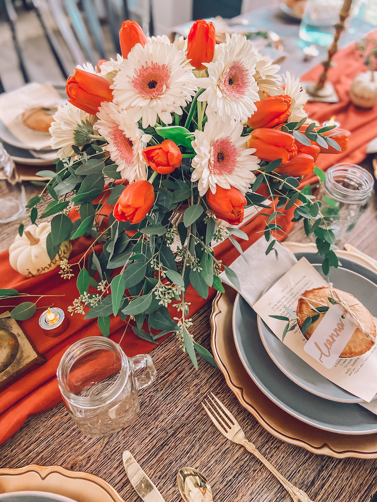 thanksgiving centerpiece floral arrangement