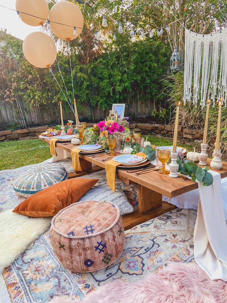 outdoor boho party