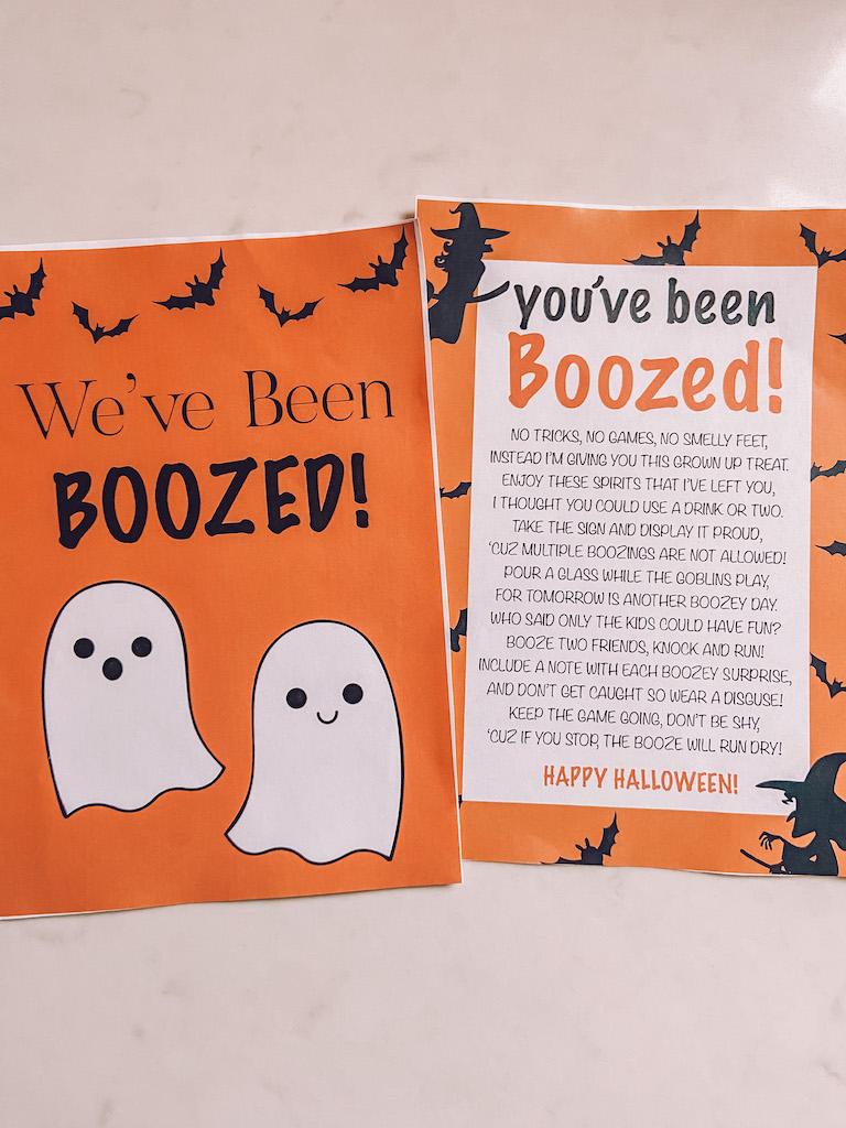 boozed bag printable halloween