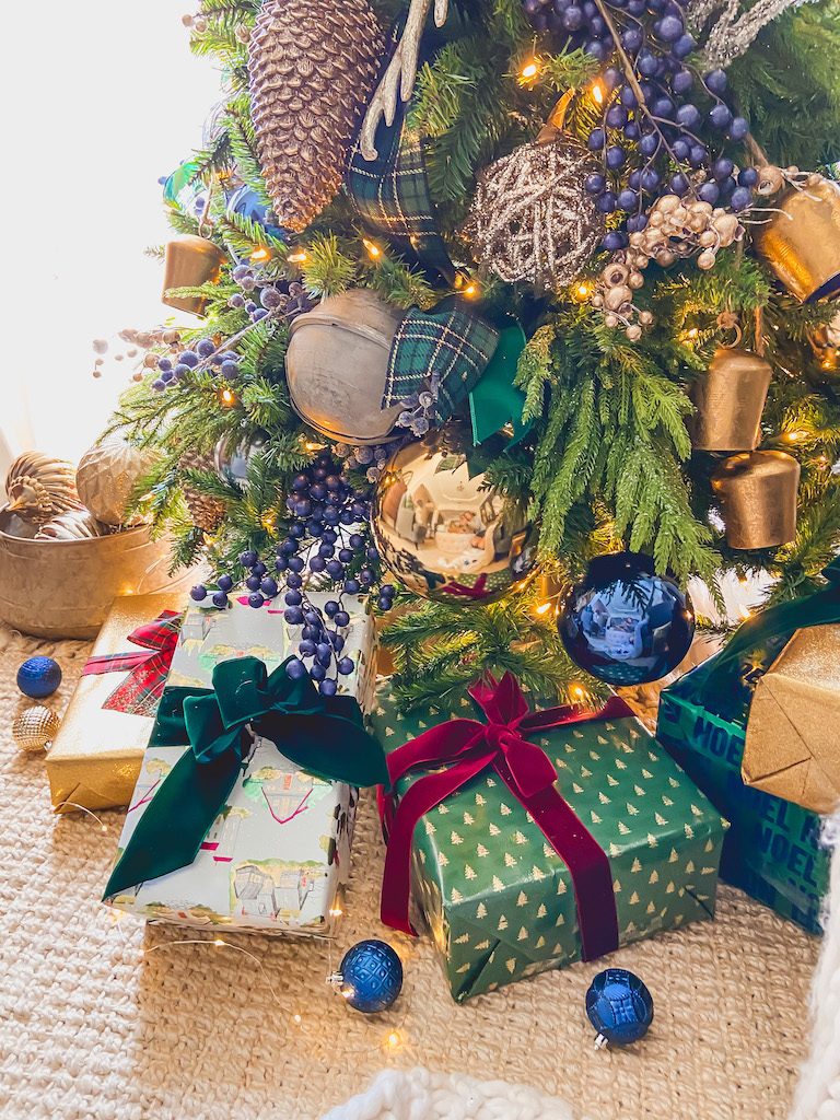 Blue Green And Gold Plaid A Remarkable Christmas Tree Life By Leanna