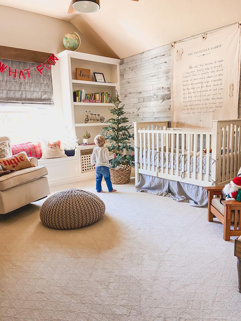 boy nursery christmas decor