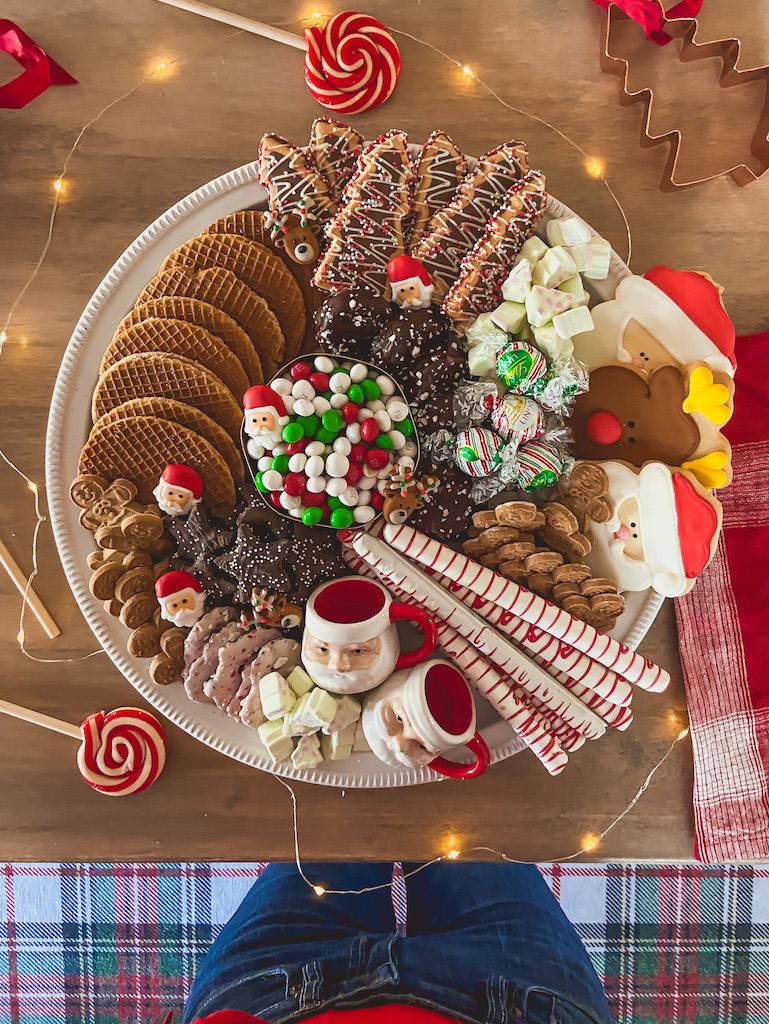 christmas dessert board