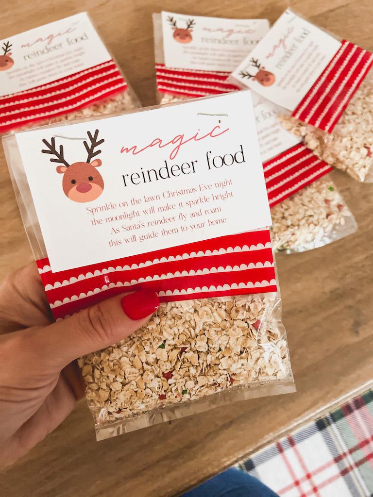 free reindeer food printable