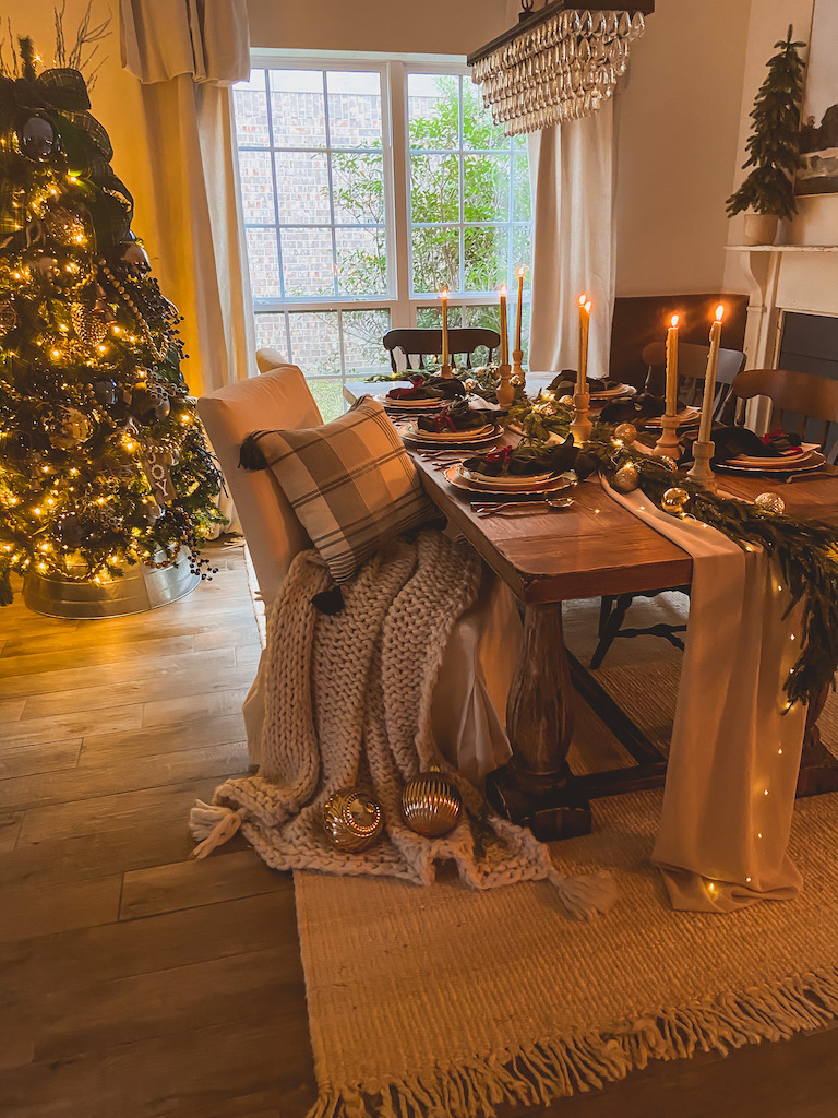 christmas elegant table