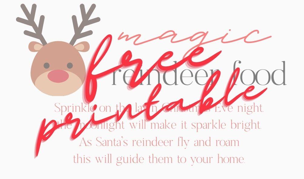 free reindeer printable