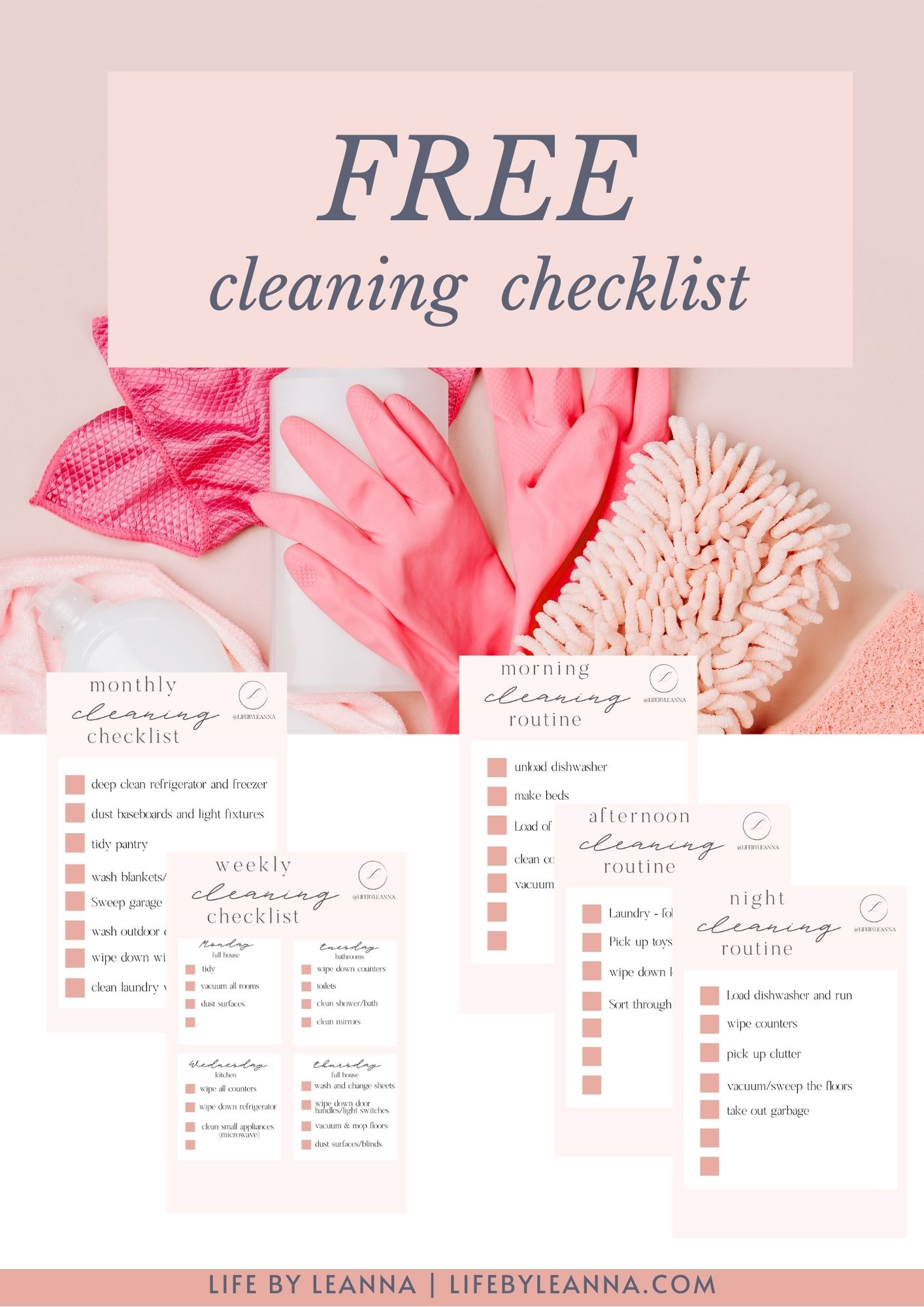FREE CLEANING CHECKLIST