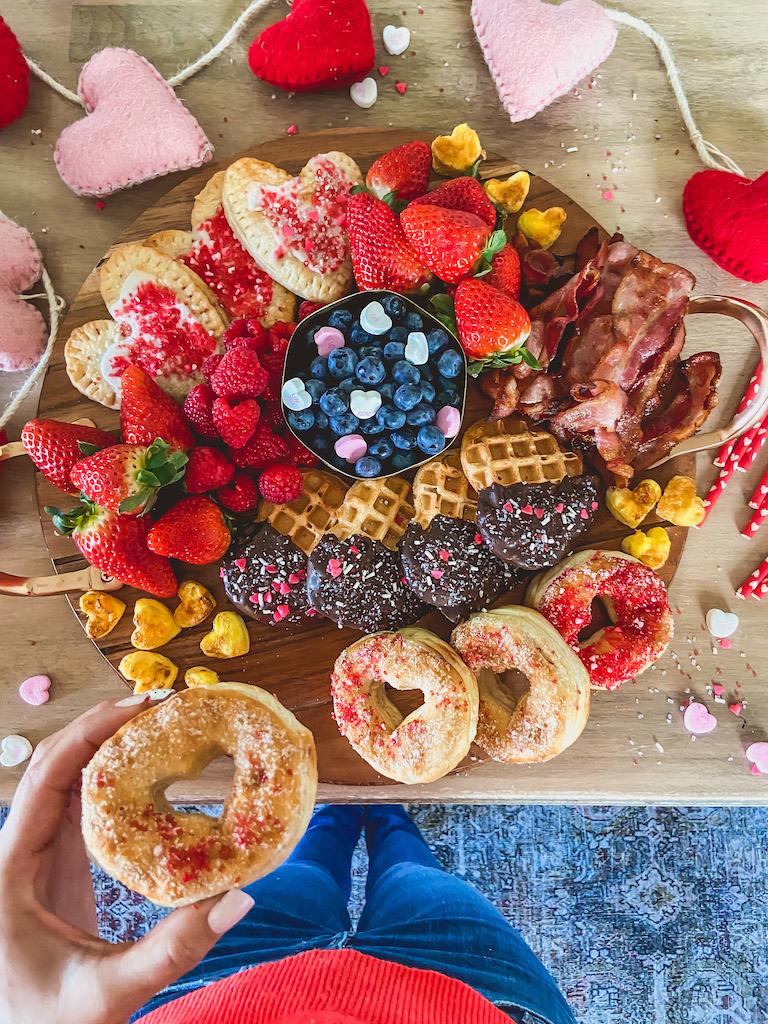 valentines day breakfast board