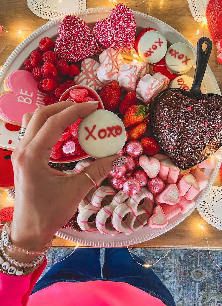 valentines day dessert board